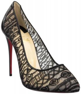 Christian Louboutin Dorissima Lace 120 Dentelle Jersey/Kid Pumps