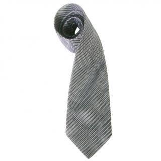 Brioni Pale Blue and Caramel Brown Silk Neck Tie