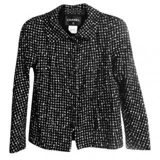 Chanel Black & White Tweed Wool Jacket