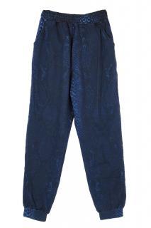 Christopher Kane blue snakeskin print sweatpants
