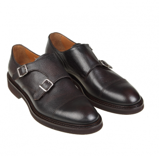 Hugo Boss Black Leather Monk Shoes