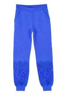 Christopher Kane embroidered blue sweatpants