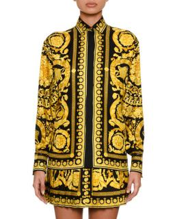 Gianni Versace baroque print blouse