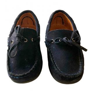 Hackett navy suede boys loafers size 27