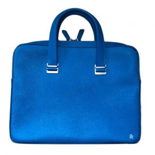 Dunhill sky blue leather unisex single document case