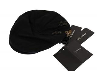 Dolce &Gabbana Embellished Black Newsboy Cap