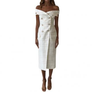 Camilla And Marc Dumas Jacket Dress in Bradlee Check