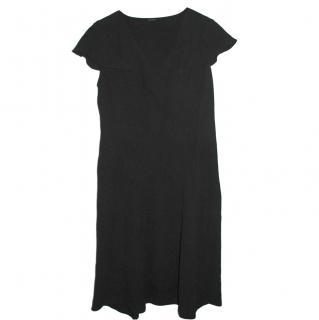 Joseph Black Silk Shift Dress