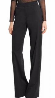Tom Ford black stretch wool tailored trousers