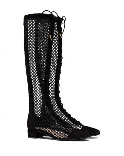 Dior Black Naughtily D long Mesh Boos - Current Sold Out