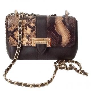 Aspinal brown calf leather shoulder bag