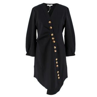 Tibi Black Bell Sleeved Dress