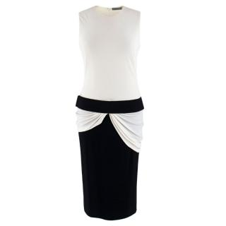 Alexander McQueen Black & White Sleeveless Dress