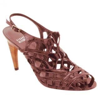 Stuart Weitzman Tan Tigress Sandals