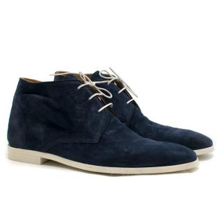Sutor Mantellassi Navy Suede Ankle Boots