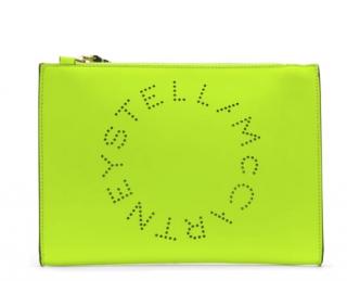 Stella McCartney Neon Green clutch bag