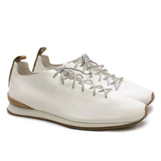 Feit White Leather Runner Sneakers