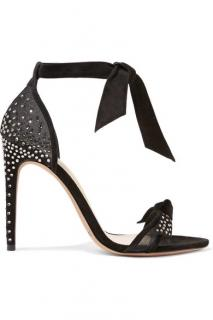 Alexandre Birman Clarita black mesh and crystal sandals