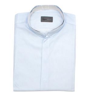 Kilgour Light Blue Cotton Pique Shirt