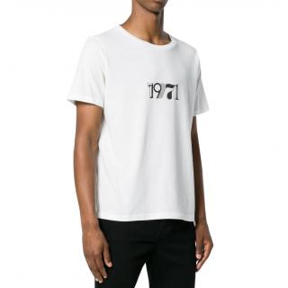 Saint Laurent White Cotton 1971 T-Shirt