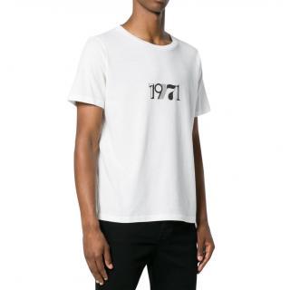 Saint Laurent White Cotton 1971 T-Shirt