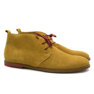 Hush Puppies Camel-brown Suede Ankle Boots