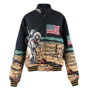Saint Laurent Moon Tapestry Bomber Jacket - Current Season