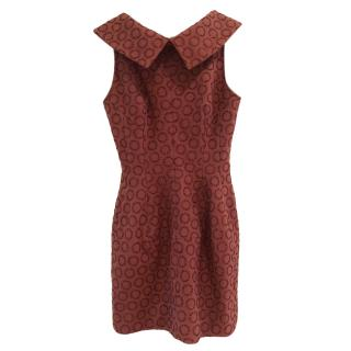 Alaia copper brown embellished dress
