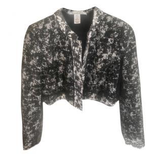 Oscar de la Renta cropped jacket with transparent lace back