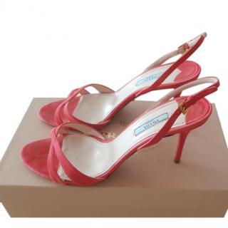 Prada suede cross-strap sandals