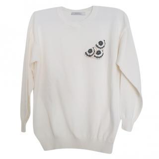 MaxMara embellished wool-blend sweater