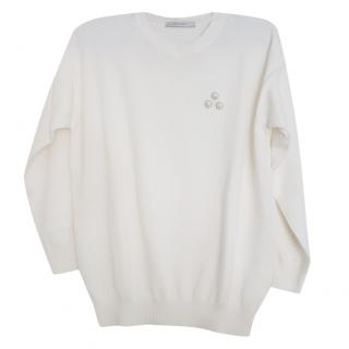 MaxMara chest-applique sweater
