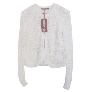 MaxMara white crochet cardigan