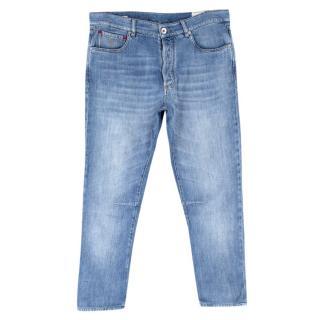 Brunello Cucinelli Blue Wash Leisure Fit Denim Jeans