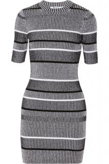 T By Alexander Wang striped knit dress