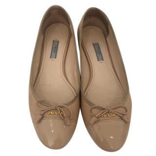 Prada Nude Ballet Flats