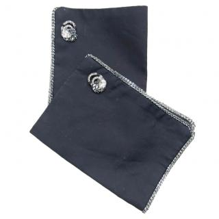 Catherine Osti Black Embellished Cuffs