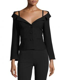 Cinq A Sept Off-Shoulder Black Top