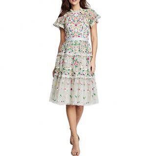 Needle & Thread Lazy Daisy embroidered dress