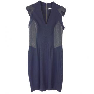 Helmut Lang contrast-panel dress