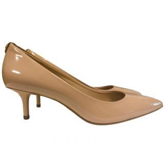 Michael by Michael Kors nude patent pumps
