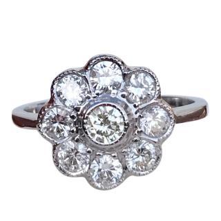 Bespoke Vintage 18ct White-Gold Diamond Ring