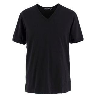 Dolce & Gabbana Black V-neck T-shirt