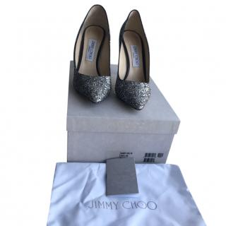 Jimmy Choo Glitter Romy 100 Pumps