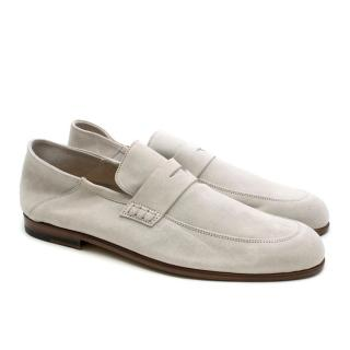 Harrys of London Light Grey Suede Loafers