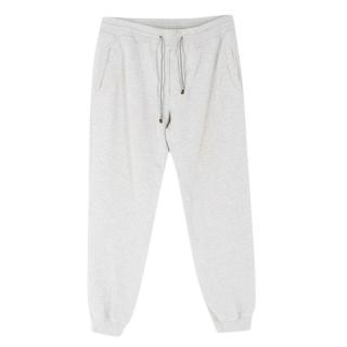 Brunello Cucinelli Light Grey Cotton-blend Sweatpants