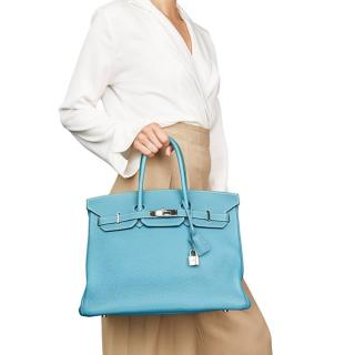 Hermes Blue Jean Togo Leather 35cms Birkin