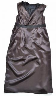Lanvin brown silk dress