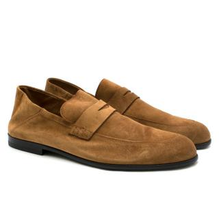 Harrys of London Brown Suede Loafers