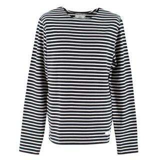 Ami Black & White Striped Sweatshirt